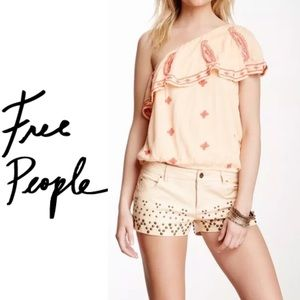 Free People Easy On The Eyes One Shoulder Top